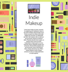 Makeup and skincare background vector