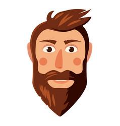 Man face icon cartoon style vector
