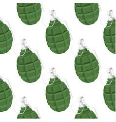 Military green grenade seamless pattern vector