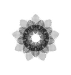 Monochrome circular pattern vector image