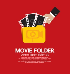 Movie Folder vector image