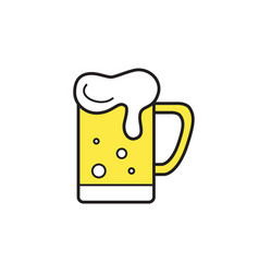 Mug of beer icon thin line for web and mobile vector
