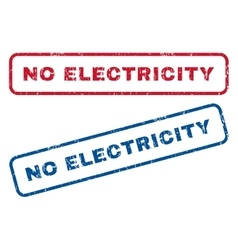 No Electricity Rubber Stamps vector
