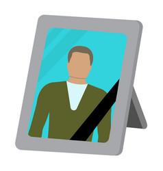 photo frame cartoon icon vector image