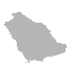 Pixel map of saudi arabia dotted map of saudi vector