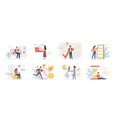 planning schedule organization business process vector image