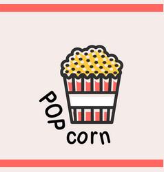 popcorn box logotype template vector image