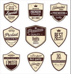 Premium quality vintage banner collection vector