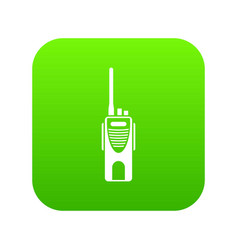 radio transmitter icon digital green vector image