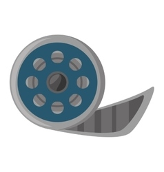 Reel film movie wheel icon vector