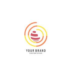 Round abstract logo vector