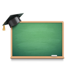 school board and graduation cap vector image