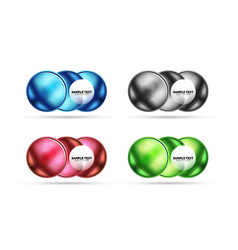 set of blank matte glass glossy sphere circles vector image