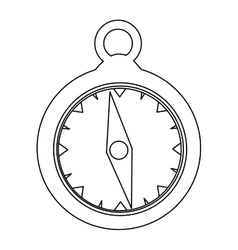 simple compass icon image vector image