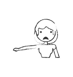 Sketch female mom sad vector