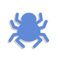 Spider sign neon blue icon vector