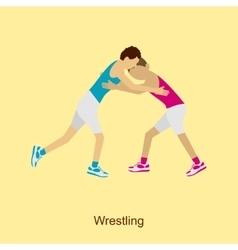 Sport people activities wrestling vector