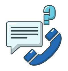 telephone calls icon cartoon style vector image