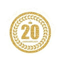 Template Logo 20 Years Anniversary vector image