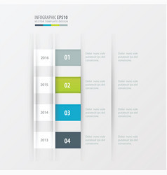 Timeline design design green blue gray color vector