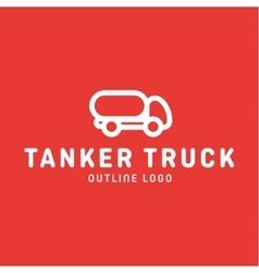Truck trending an outline line quality logo vector
