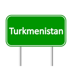 Turkmenistan road sign vector