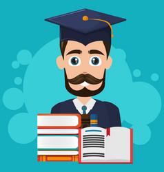 university student cartoon vector image
