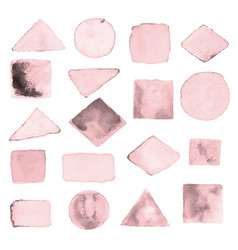 watercolor geometric design elements2 vector image