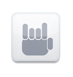white fingers fan icon Eps10 Easy to edit vector image