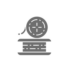 Wire for welding work metal grey icon vector