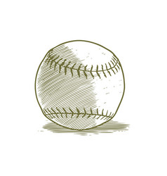 Woodcut baseball vector