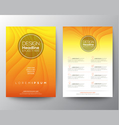 yellow flyer design template minimal abstract vector image