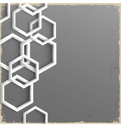 3d geometric grunge background vector image vector image