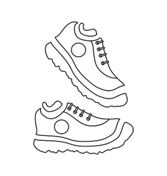 Fitness sneakers icon outline style vector image