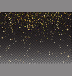 glitter effect gold glittering space star vector image vector image