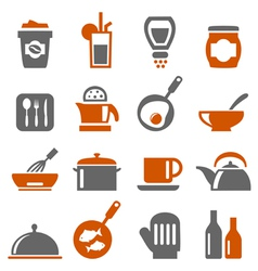 Kitchen Ware icons vector image vector image