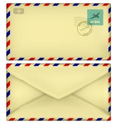 old postal envelope vector image vector image