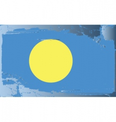Palau national flag vector image vector image