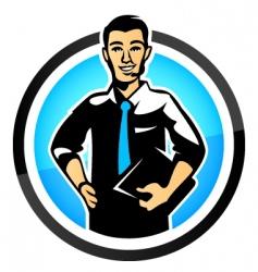 salesman vector image vector image