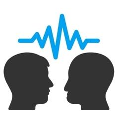 User dialog signal flat icon vector