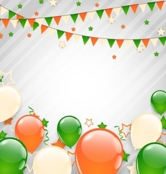Buntings Flags Garlands and Balloons vector image vector image