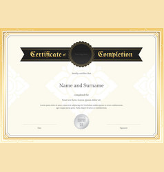 certificate completion template applied thai art vector image vector image