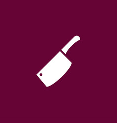 Chef knife icon simple vector