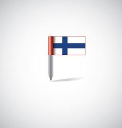 finland flag pin vector image