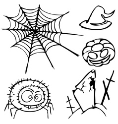 set of sketches for the design in the style of vector image vector image