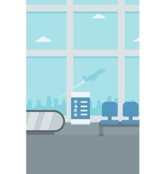 Background of hall at airport vector image