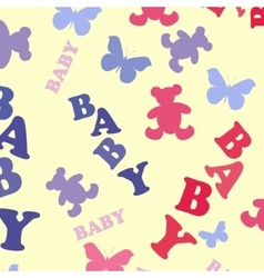 Cute Baby seamless pattern vector image vector image