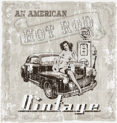Hot rod american vector