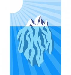 iceberg poster vector image
