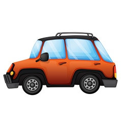 An orange car vector image vector image